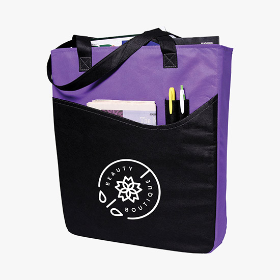 7cf4f9f6dbaa3 80 GSM Rivers Pocket Convention Tote - 24-Hour Production